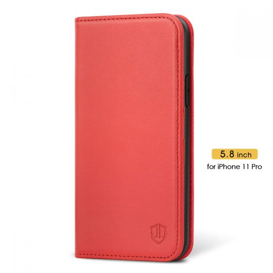 SHIELDON iPhone 11 Pro Wallet Case for Women  - iPhone 11 Pro Leather Cover with Magnetic Closure - Red