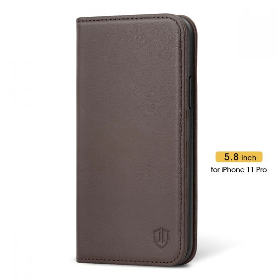 SHIELDON iPhone 11 Pro Protective Case - iPhone 11 Pro Wallet Case Slim Thin - Coffee