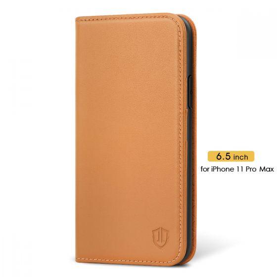 SHIELDON iPhone 11 Pro Max Wallet Case - iPhone 11 Pro Max Folio Case - Brown