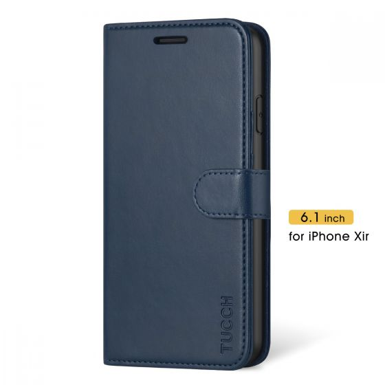 TUCCH iPhone 11 Wallet Case with Magnetic, iPhone 11 Leather Case - Blue