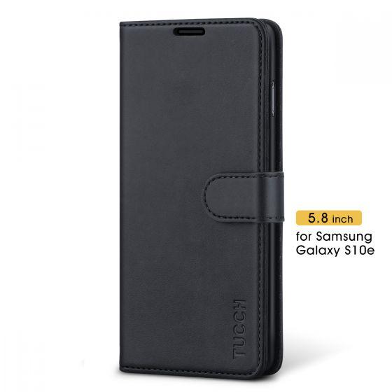 TUCCH Galaxy S10e Hülle Handyhülle [Softer TPU] Schutzhülle als [Brieftasche] PU-Lederhülle Handytasche Kartenfach Standerfunktion Magnet Kompatibel