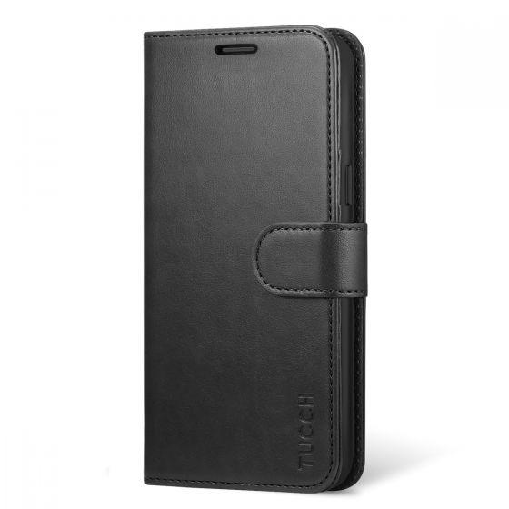 TUCCH Galaxy S8 Plus Hülle, Samsung Galaxy S8 Plus Ledertasche aus Premium Leder, Schutzhülle mit Integrierten Kartenfächer und Standfunktion