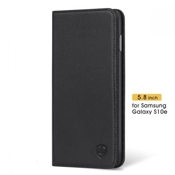 SHIELDON Galaxy S10e Hülle Schutzhülle [Echtleder] TPU Wallet Case Handyhülle als [Brieftasche] RFID Lederhülle Magnet Kartenfach Stander Kompatibel