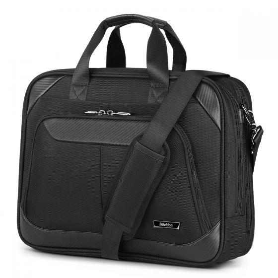 SHIELDON Laptop Bag 15.6-inch Business Briefcase Notebook Bag Messenger Bag Carry-on Handbag Durable Water Resistant Multi-Functional Travel Shoulder Bag with Strap for Men & Women
