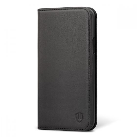 SHIELDON iPhone 11 Wallet Case, iPhone 11 Leather Cover, Genuine Leather, RFID Blocking, Flip Folio, Kickstand, Magnetic Closure