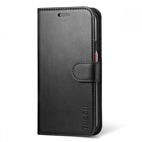 TUCCH Galaxy S6 Edge Hülle, Schlanke Wallet Cases Flip Folio Bucheinband mit Kreditkartensteckplätze, Ständer Halter, Magnetverschluss