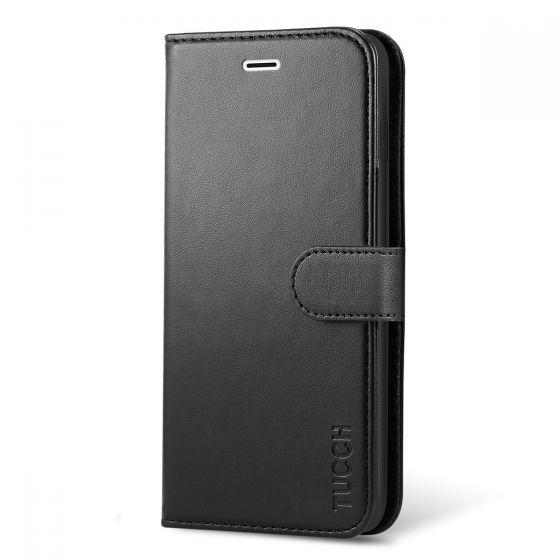 TUCCH iPhone 8 Plus Brieftasche Hülle, iPhone 7 Plus Leder Hülle Abdeckung mit Buchstil Flip-Stil Foliostil Ständerfunktion