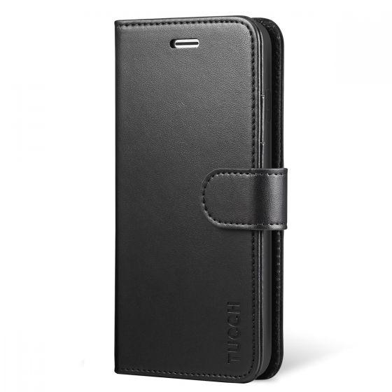 TUCCH iPhone X Hülle iPhone 10 Handyhülle, iPhone X/10 Lederhülle TPU-Innenschale Schutzhülle mit Magnetverschluss Aufstellfunktion Flip Wallet case