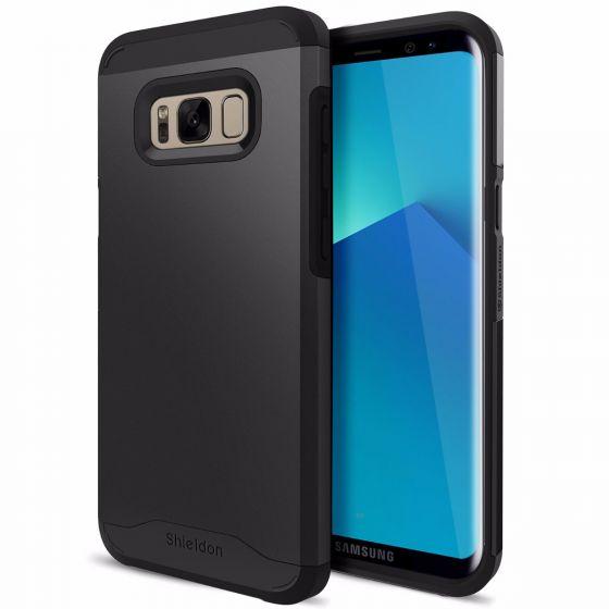 SHIELDON Galaxy S8 Hülle Stoßfest Schutzhülle Case, Kratzfeste Rutschfeste Schlanke Handyhülle, Premium Hybrid TPU+PC Hard Schutz Bumper Case Cover für Samsung Galaxy S8 2017