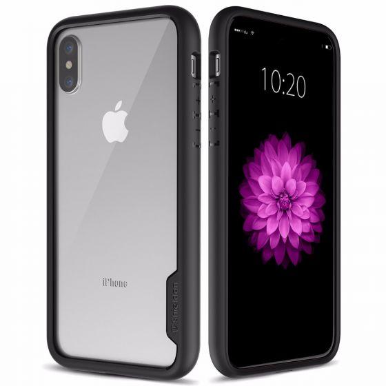 SHIELDON iPhone X Hülle, iPhone XS Hülle Schutzhülle für iPhone X/XS/10 (5.8) Zoll. Durschsischtige schlagfeste Case mit TPU-Rand + PC Transparente Schale für iPhone XS/X/10