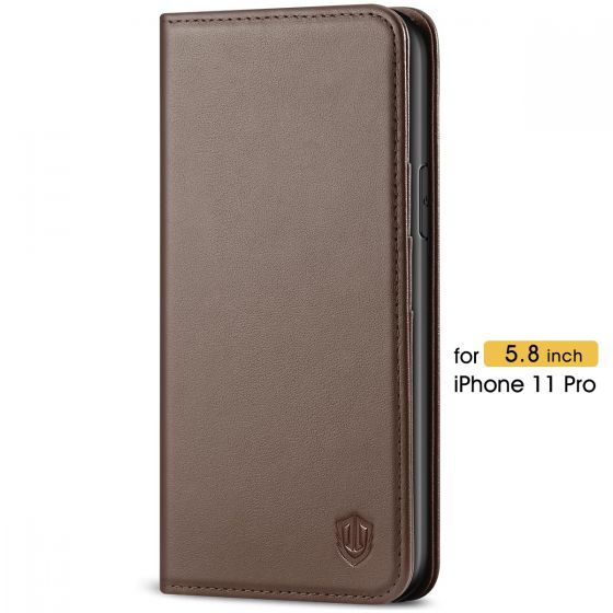 SHIELDON iPhone 11 Pro Protective Case - iPhone 11 Pro Wallet Case Slim Thin and Auto Sleep/Wake Function - Coffee