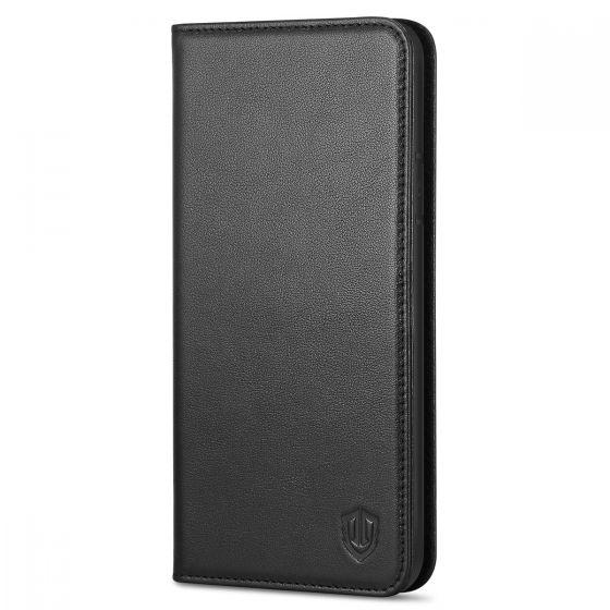 SHIELDON iPhone 8 Hülle, iPhone 7 Hülle, Echt Leder Tasche für iPhone 7/8 Handyhülle im Bookstyle mit Magnet Kartenfächer Standfunktion