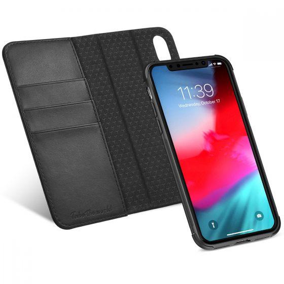 """TUCCH iPhone Xs Hülle iPhone Xs Case, Abnehmbar Schutzhülle iPhone Xs Handytasche RFID-Schutz, Auto Sleep/Wake Funktion 2in1 mit Stander Kartenfach Magnet PU-Leder 5.8"""""""
