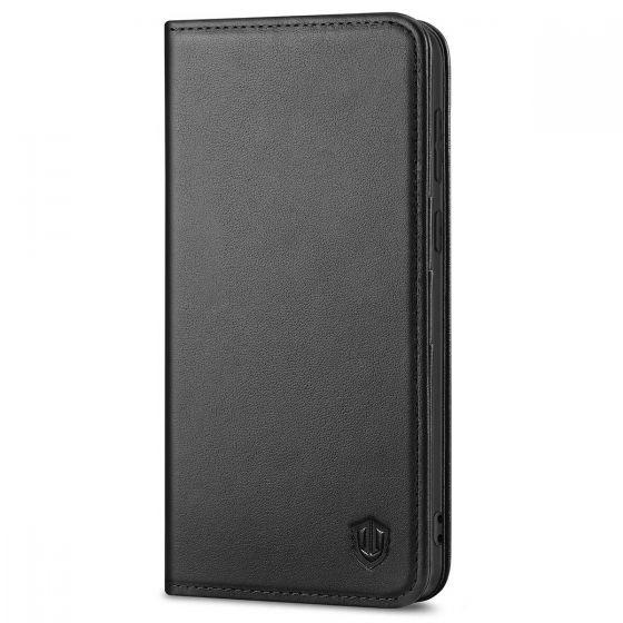 SHIELDON SAMSUNG S21 Plus Wallet Case - SAMSUNG Galaxy S21 Plus 6.7-inch Folio Leather Case - Black