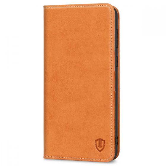 SHIELDON SAMSUNG S21 Plus Wallet Case - SAMSUNG Galaxy S21 Plus 6.7-inch Folio Leather Case - Brown