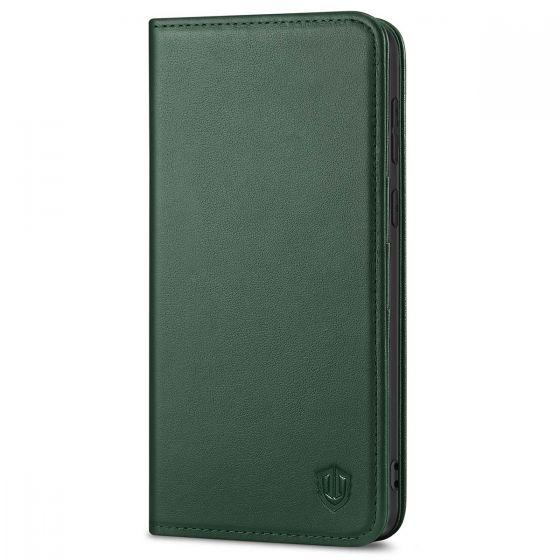 SHIELDON SAMSUNG S21 Plus Wallet Case - SAMSUNG Galaxy S21 Plus 6.7-inch Folio Leather Case - Midnight Green
