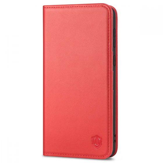 SHIELDON SAMSUNG S21 Plus Wallet Case - SAMSUNG Galaxy S21 Plus 6.7-inch Folio Leather Case - Red