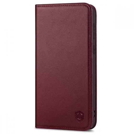 SHIELDON SAMSUNG S21 Plus Wallet Case - SAMSUNG Galaxy S21 Plus 6.7-inch Folio Leather Case - Wine Red