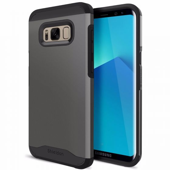 SHIELDON Galaxy S8 Plus Hülle, Doppelschichte dünne Schutzhülle, verbindet weiche Silikon TPU mit harter PC Schale, S8+ Stoßfest Handyhülle(6,2 Zoll 2017)