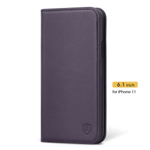 SHIELDON iPhone 11 Leather Cover - iPhone 11 Protective Case - Purple