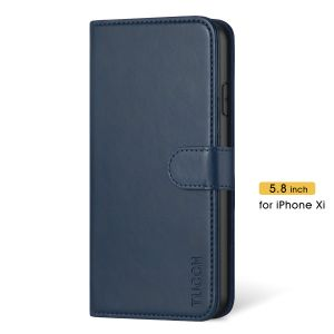 TUCCH iPhone 11 Pro Wallet Case with Magnetic, iPhone 11 Pro Leather Case Wireless Charging Compatible - Blue