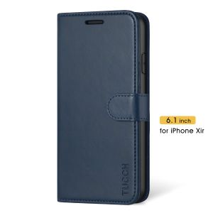 TUCCH iPhone 11 Wallet Case with Magnetic, iPhone 11 Leather Case Wireless Charging Compatible - Blue