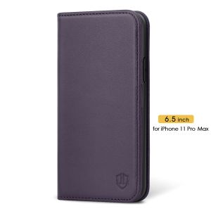 SHIELDON iPhone 11 Pro Max Leather Cover - iPhone 11 Pro Max Protective Case - Purple