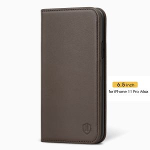 SHIELDON iPhone 11 Pro Max Protective Case - iPhone 11 Pro Max Wallet Case Slim Thin with Auto Sleep/Wake Function - Coffee