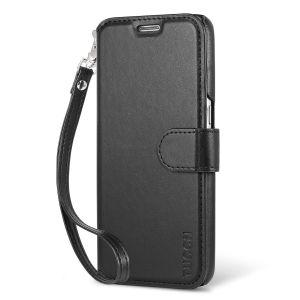 TUCCH Galaxy S7 Hülle, Samsung Galaxy S7 Handyhülle Lederbezug mit Displayschutzfolie, Kartenfach, Standfunktion, Abnehmbare Handschlaufe