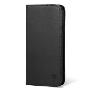 iPhone 6 Plus Hülle, iPhone 6s Plus Hülle, SHIELDON Echt Leder Tasche für iPhone 6/6s Plus Handyhülle im Bookstyle mit Magnet Kartenfächer Standfunktion