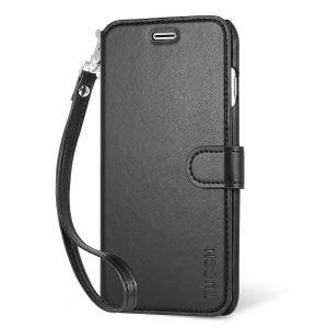 TUCCH iPhone 7 Plus Hülle Handyhülle iPhone 7 Plus Lederhülle Schutzhülle Handytasche Wallet Case mit Kartenfach und Standfunktion