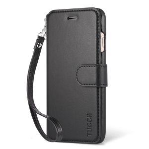 TUCCH iPhone 7 Hülle Handyhülle iPhone 7 Lederhülle, Brieftasche hülle mit Magnetarmband und Ständerfunktion