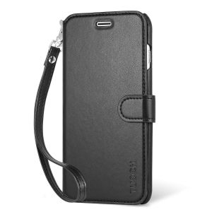 TUCCH iPhone 6S / 6 Plus Case, Wrist Strap, Wallet Case