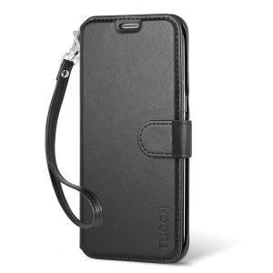TUCCH Galaxy S7 Edge Hülle, Samsung Galaxy S7 Edge Leder Brieftasche Hülle Schutzhülle mit Kartenfach, Standfunktion, Abnehmbare Handschlaufe, Magnetlasche