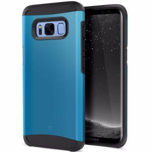 Galaxy S8 Plus Hülle, SHIELDON Doppelschichte dünne Schutzhülle, verbindet weiche TPU mit harter PC Schale, S8+ Handyhülle, TPU+PC Galaxy S8+ Tasche Case Cover für Samsung Galaxy S8 Plus, [Sunrise Series] Blau