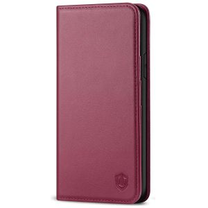 SHIELDON iPhone 11 Wallet Case, Genuine Leather, RFID Blocking, Magnetic Closure - Red Violet