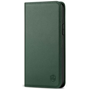 SHIELDON iPhone 11 Pro Wallet Case, Genuine Leather, Auto Sleep/Wake, RFID Blocking, Magnetic Closure - Midnight Green
