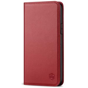 SHIELDON iPhone 11 Pro Wallet Case, Genuine Leather, Auto Sleep/Wake, RFID Blocking, Magnetic Closure - Dark Red