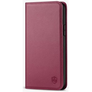 SHIELDON iPhone 11 Pro Wallet Case, Genuine Leather, Auto Sleep/Wake, RFID Blocking, Magnetic Closure - Red Violet