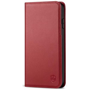 SHIELDON iPhone 11 Pro Max Wallet Case, Genuine Leather, Kick-stand, Magnetic Closure with Auto Sleep/Wake Function - Dark Red