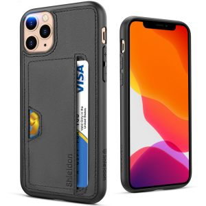 SHIELDON iPhone 11 Pro Wallet Case. Genuine Leather Cover + TPU Shockproof Full Protection Case Wireless Charging with Credit Card Holder Compatible with iPhone 11 Pro (5.8-inch, 2019 Release)
