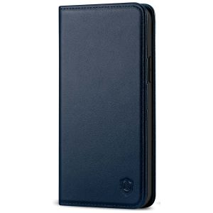 SHIELDON iPhone 12 Wallet Case - iPhone 12 Pro 6.1-inch Folio Leather Case - Navy Blue