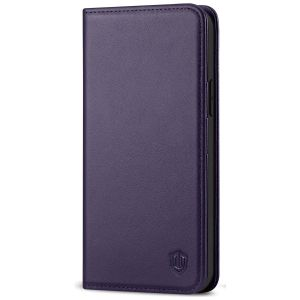 SHIELDON iPhone 12 Wallet Case - iPhone 12 Pro 5G 6.1-inch Folio Leather Case - Dark Purple