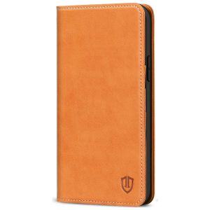 SHIELDON iPhone 13 Pro Max Wallet Case, iPhone 13 Pro Max Genuine Leather Cover - Brown