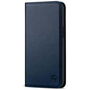 SHIELDON iPhone 13 Mini Wallet Case - Mini iPhone 13 5.4-inch Folio Book Flip Cover - Navy Blue