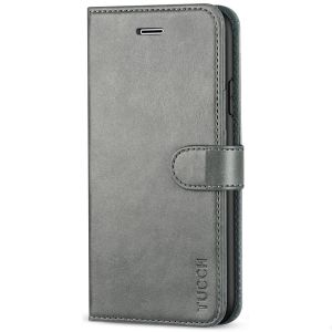 TUCCH iPhone 7 Wallet Case, iPhone 8 Case, Premium PU Leather Case - Grey