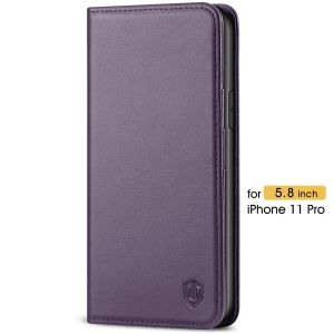 SHIELDON iPhone 11 Pro Leather Cover - iPhone 11 Pro Protective Case with Auto Sleep/Wake Function - Purple