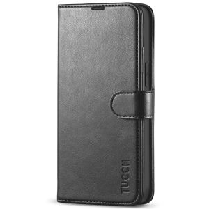 TUCCH iPhone 13 Mini Wallet Case, Mini iPhone 13 5.4-inch Leather Case, Folio Flip Cover with RFID Blocking, Stand, Credit Card Slots, Magnetic Clasp Closure - Black