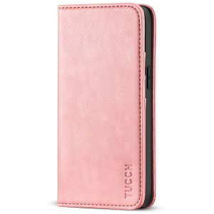 TUCCH iPhone 13 Mini Wallet Case, iPhone 13 Mini Flip Folio Book Cover, Magnetic Closure Phone Case - Rose Gold