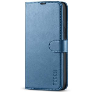 TUCCH iPhone 13 Mini Wallet Case, Mini iPhone 13 5.4-inch Leather Case, Folio Flip Cover with RFID Blocking, Stand, Credit Card Slots, Magnetic Clasp Closure - Lake Blue